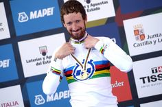 2014, World Championships elite cronometro, Team Sky 2014, Wiggins Bradley, Ponferrada - Elusive - Wiggins took world time trial silver behind Martin in 2011 and 2013, skipping the event in 2012 having won the Tour de France and Olympic TT, but got the better of his rival today. (Pic: Sirotti)