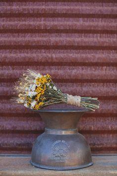 yellow, desert inspired wedding bouquet