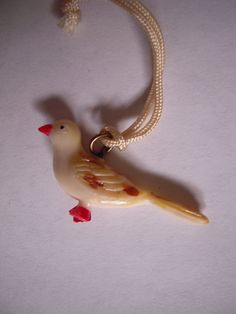 Bird Celluloid Cracker Jack Charm by MDHcrafts on Etsy