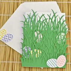 XXX   Hidden Easter Eggs Card - tape coins or sayings to back of eggs