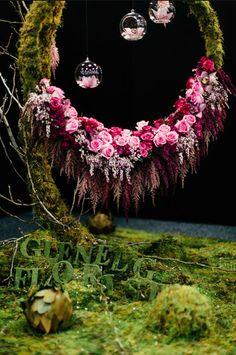 Installation by floral Designer: Vanessa Corbell Glenelg Florist, South Australia Love Flowers, My Flower, Flower Art, Flower Power, Beautiful Flowers, Wedding Flowers, Purple Wedding, Deco Floral, Arte Floral