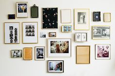 Wonderful assortment of vintage photos + frames.