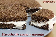 Bizcocho de Cacao y Naranja