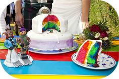 Rainbow Cake by miabubble, via Flickr