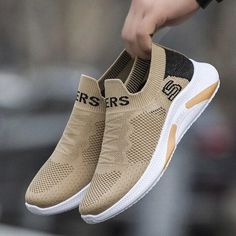 Casual Shoes Summer Mesh Men Shoes Lightweight Sneakers Men Fashion Casual Walking Shoes Breathable Slip on Men's Loafers | Touchy Style Cute Shoes, Men's Shoes, Shoes Sneakers, Shoes For Teenage Guys, Girls Sneakers, White Sneakers, Casual Shoes, Men Casual, Men's Loafers