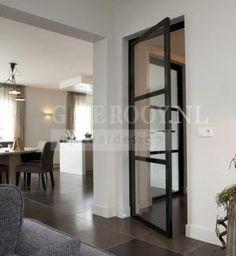 Stalen deur, erg mooi!