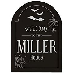 "Halloween Personalized Wall Sign, 11.5"" x 15.5"", Hanging Tabs Included"