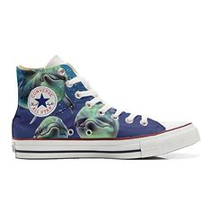 Converse All Star personalisierte Schuhe (Handwerk Produkt) mit 3 delfini in posa - size EU34 - http://on-line-kaufen.de/make-your-shoes/34-eu-converse-all-star-personalisierte-schuhe-3-12