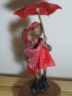 Rainy days. Sculpture of Two Little Girls. by Stephaniessculptures, £70.00