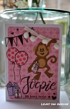 Leuks van Gerdine Marianne Design, Kids Cards, Container, Animals, Tags, Girls, Animal Cards, Animales, Toddler Girls