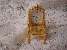 Rocking Chair Miniature Clock