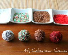 Trufas de Chocolate -Chocolate Truffles Colombia, chocolate, recetas, navidad