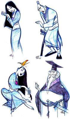Some More Mulan Concept Arts..