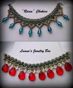 "Video:  Beaded choker with Superduo beads - ""Reina""   #Seed #Bead #Tutorials"