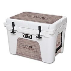 MightySkins Protective Vinyl Skin Decal for YETI Tundra 35 qt Cooler wrap cover sticker skins Carpe Diem -- For more information, visit image link.-It is an affiliate link to Amazon. #CampKitchenEquipment