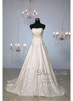 Robe de mariage luxueuse douce col en cœur basque
