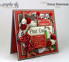 Childrens Hour Graphic 45 Valentine Card Ginny Nemchak #graphic45