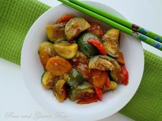 : Gluten Free Baby Thai Eggplant Stir Fry (Soy-Free option) with a great sauce!!