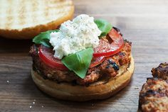Andrew Zimmern's Ultimate Turkey Burger with Tomato, Ricotta & BasilAndrew Zimmern