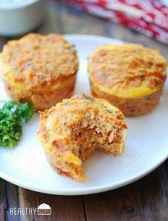 Salmon Muffins with Tartar Sauce Tinned Salmon Recipes, Healthy Salmon Recipes, Healthy Food Blogs, Fish Recipes, Seafood Recipes, Low Carb Recipes, Cooking Recipes, Meat Recipes, Healthy Eats