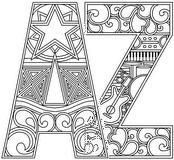 Download, print, and color-in Art Alphabet Use for pattern.