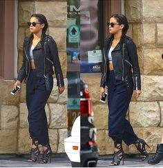 lets talk vogue Celebs, Celebrities, Selena Gomez, Diy Fashion, Casual Chic, Leather Pants, Dress Up, Hair Beauty, Vogue