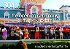 opening ceremony...good morning, good morning!