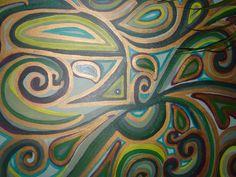 Bird Green- Acrylic Paint on Canvas