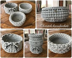 Virkade korgar, Crochet baskets