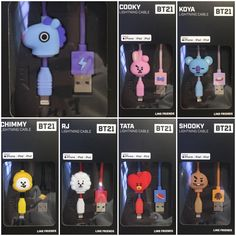 BT21 8pin Lightning charger cable Bts Taehyung, Bts Jungkook, Mochila Kpop, Bts Doll, Cable Iphone, V Chibi, Army Room Decor, Bts Clothing, Blackpink And Bts