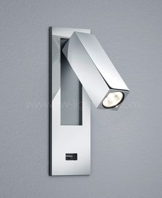 Wall Sconce With Usb : Baulmann LED reading light for headboard chrome finish 64.058.14 Baulmann LED Reading Lights ...