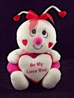 "Valentine White Bumble Bee 12"" Plush Heart White Antenna   Toys & Hobbies, Stuffed Animals, Other Stuffed Animals   eBay!"