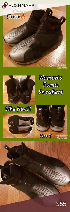 "🔥Black & Metallic Puma Fierce Sneakers 🔥 🔥Black & Silver Puma Fierce Athletic Shoes🔥Excellent Used Condition!! ""FAST SHIPPER"" I Love Sharing YOUR Closet & Helping In Any Way I Can 😘 ""POSH MENTOR"" I Will Personalize Your Package With 💙 & Care ""TOP 10% SHARER"" ""TOP RATED SELLER"" Please Shop My Closet With Confidence, As I Am A Posh Ambassador😉 Happy Poshing Beauties 👗👒👠👜🦄 Puma Shoes Athletic Shoes"