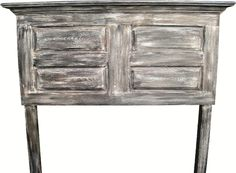 We have created an affordable distressed headboard that will quickly attach to your metal bed frame.