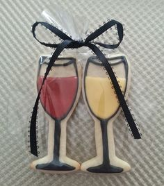 Cocktail Party Favors Wine Glass Cookies