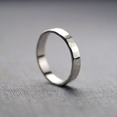 3mm Sterling Silver Textured Ring Band Made With Recycled Eco Friendly Ethical Metals Alternative Wedding Ring