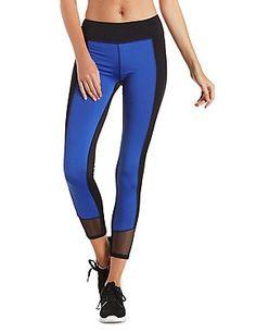 Mesh Cut-Out Color Block Workout Pants