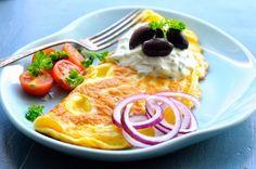 Omelette, Frittata, Tzatziki, World Recipes, Lchf, I Foods, Waffles, Good Food, Healthy Recipes