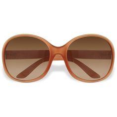 Prada Round Plastic Sunglasses ❤ liked on Polyvore