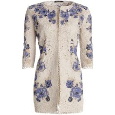 NIC+ZOE Floating Floral Lace Coat found on Polyvore