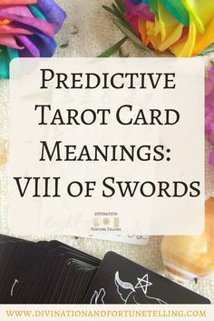 In a Tarot card reading, The Eight of Swords in a spread can be a symbol of abuse and restrictions. This post includes a vintage and modern fortune telling meanings of The 8 of Swords, ideal for the advanced reader or those just learning the cards. These interpretations can be used with any of the decks (Rider Waite, Marseilles etc). Cards used in this post are The Divina Tarot Deck.
