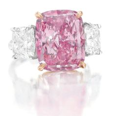 10 carat fancy vivid purple-pink diamond ring-christies