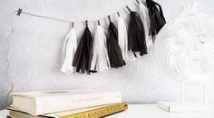 Mit dieser Tassel Garland liegt ihr genau im Trend! Ob edel in Schwarz-Weiß oder verspielt bunt – euch sind keine Grenzen gesetzt…