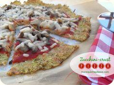 Zucchini-crust pizza (KfP recipe)