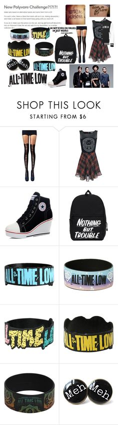 """""""A: All Time Low"""" by xofrnk-ieroxo ❤ liked on Polyvore featuring Versace and Hot Topic"""
