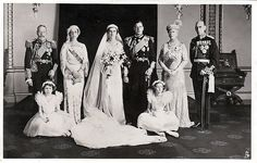 1934 PRINCESS MARINA OF GREECE AND DENMARK WEDS PRINCE GEORGE, YOUNGEST SON OF KING GEORGE V OF GREAT BRITAIN