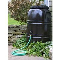 60-Gallon Rain Barrel in Earth Brown Food Grade Plastic @ bestrainwatercollectionsystems.com