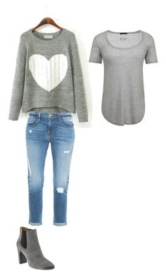 """Untitled #54"" by ssdeamues on Polyvore featuring Frame Denim, ATM by Anthony Thomas Melillo and Banana Republic"