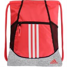 Pink Painted Stripe Drawstring Backpack Sports Athletic Gym Cinch Sack String Storage Bags for Hiking Travel Beach