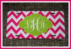 Personalized Monogrammed License Plate Car Tag, Monogram License Plate, Personalized License Plate, Monogram Car Tag on Etsy, $30.00